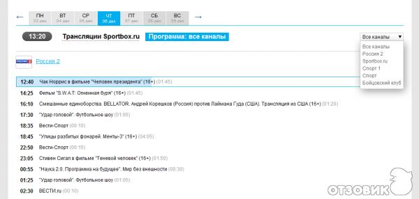 Телепрограмма СПОРТ ПЛЮС Программа передач