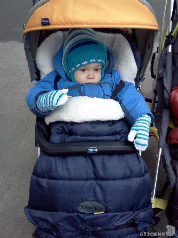 Зимний плед в коляску