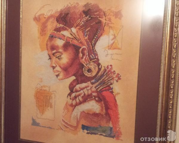 Схема вышивки африканка ланарте 89