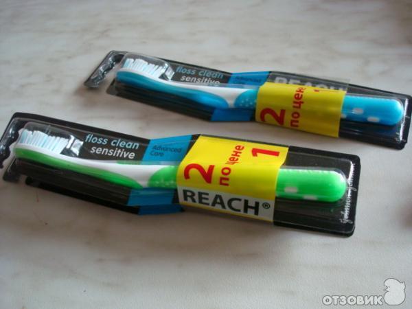 Отзыв о Зубная щетка Reach Floss Clean Sensitive | Экстра-мягкая ...