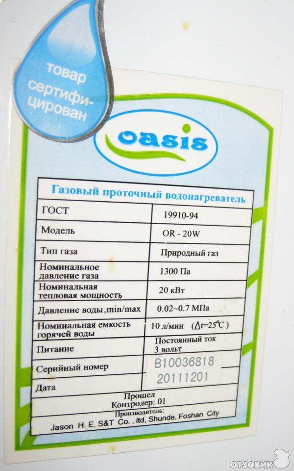 инструкция газовая колонка