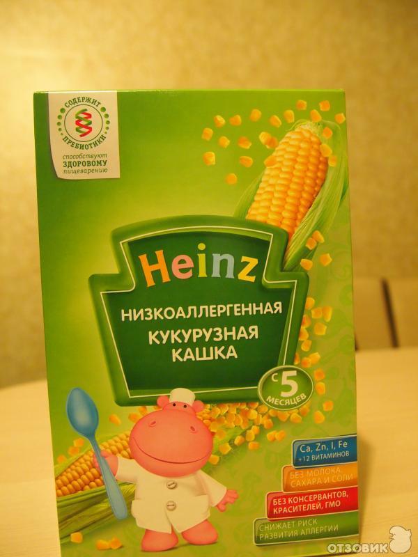 каша хайнц кукурузная безмолочная фото