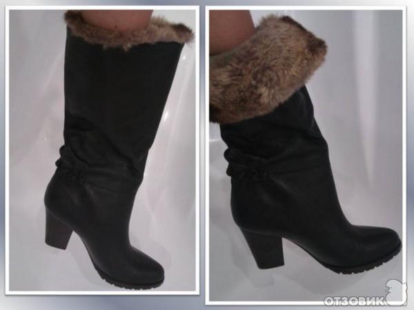 Женские сапоги с широким голенищем: Сеть обувных