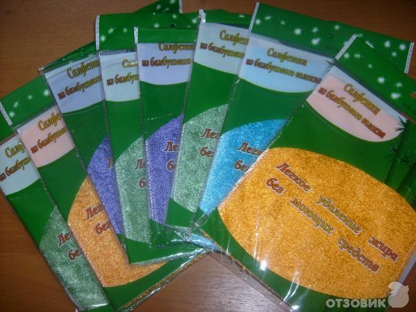Салфетки из бамбукового волокна фото