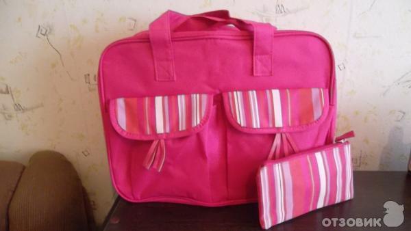 """Недавно пришел заказ Yves Rocher, где в качестве подарков был крем  """"Жизненная сила """" и набор дорожных сумок розового..."""
