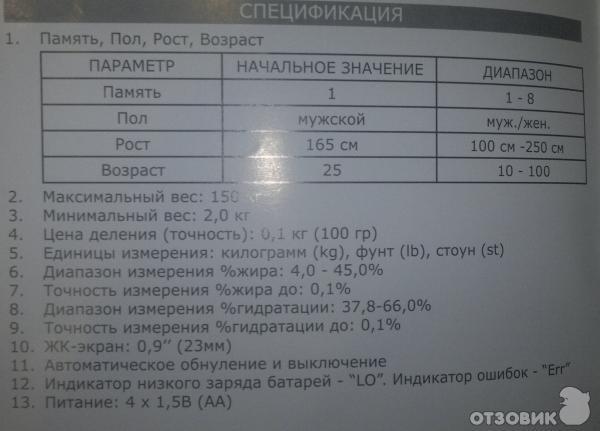 Весы Cameron Bfs-222 Инструкция - фото 3