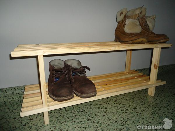 Полка для обуви в прихожую своими руками фото из мебельных щитов 19