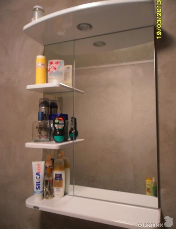 Полка в ванную с зеркалом своими руками