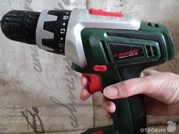 Отзыв: Аккумуляторная дрель-шуруповерт Hammer ACD182 - Хороший рабочий инструмент.