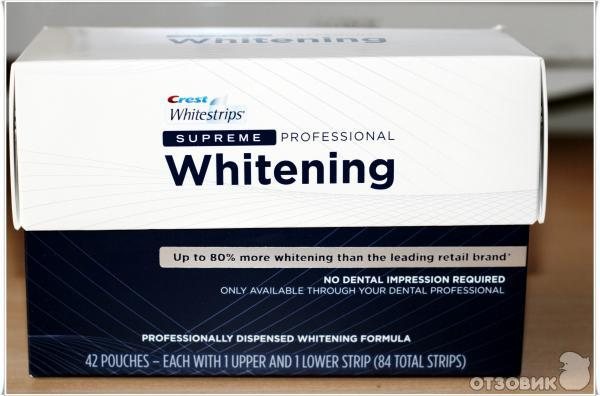 инструкция Crest Whitestrips Supreme Professional - фото 3