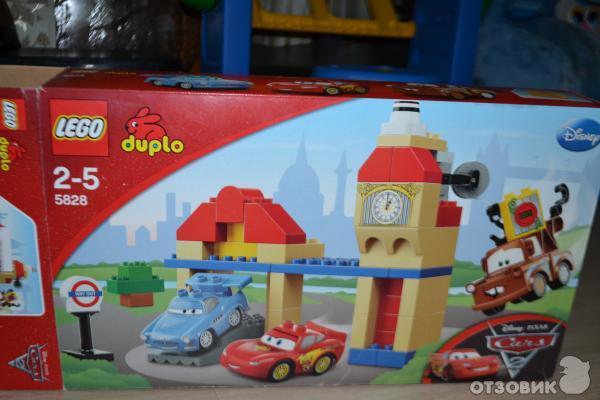 """Недавно приобрели ребенку конструктор Lego Duplo из серии 2-5 лет  """"Тачки """" по хорошей акции в Детском Мире."""