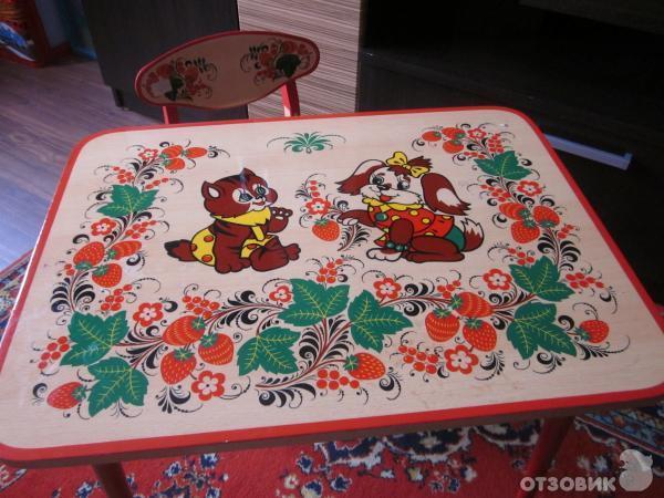 Как раскрасить детский столик своими руками 48