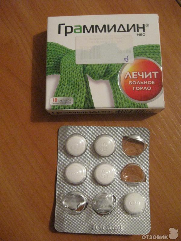 Граммидин таблетки инструкция