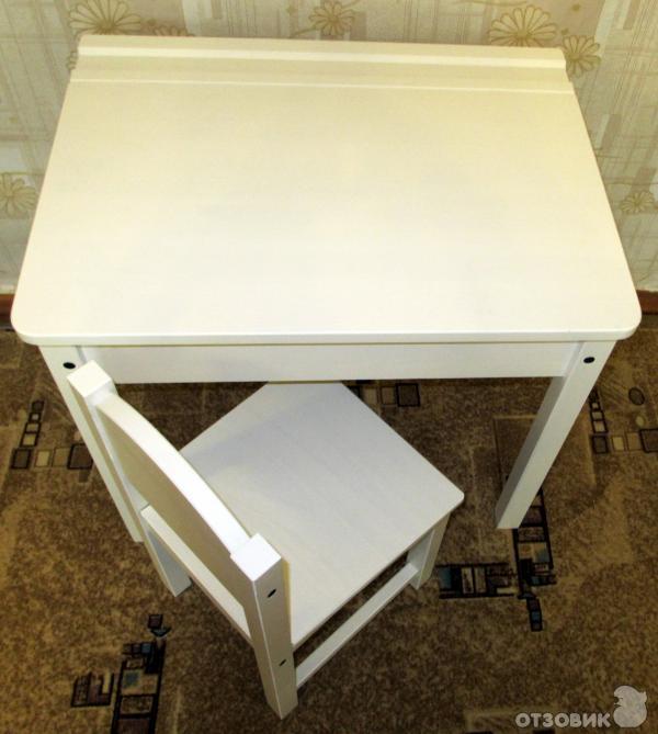 Родители выбрали стол и стул IKEA из серии SUNDVIK.  Был упакован вот в такую коробку.