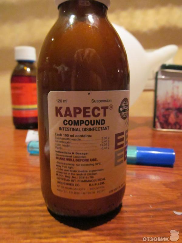 Отзыв: Лекарство от поноса Kapect - Чем в Египте лечат понос.
