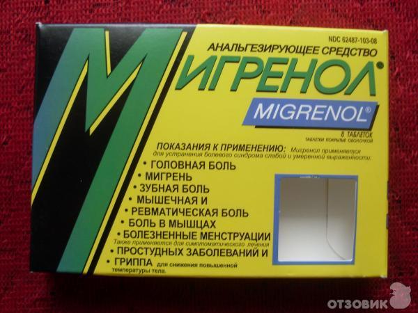 Болеутоляющие таблетки при мигрени