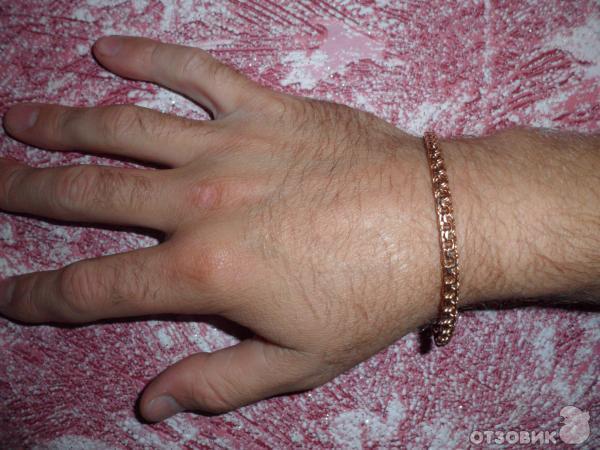 золотой браслет мужской на руку фото