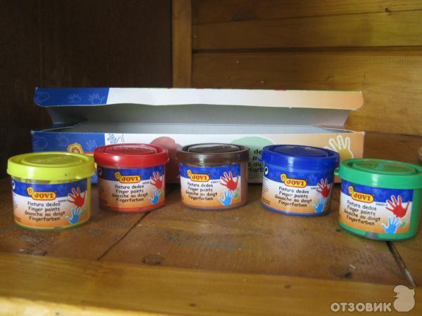 Пальчиковые краски для малышей купить в Москве