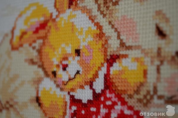 """Отзыв: Наборы для вышивания крестом  """"Алиса """" - Набор  """"Дочурка """" - вышила для моей малышки."""