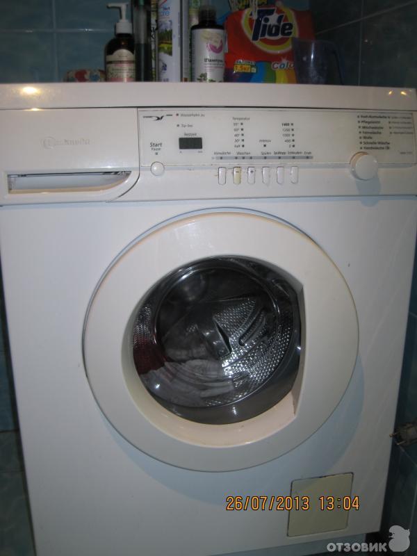 Инструкция к стиральной машине bauknecht wak 7305