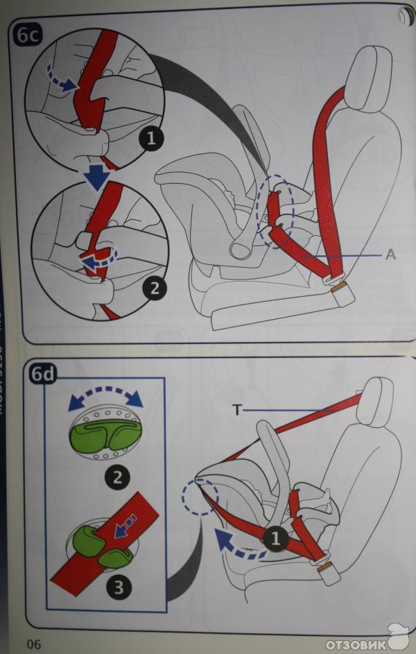 Как Правильно Пристегнуть Автокресло Ремнем Инструкция - фото 8
