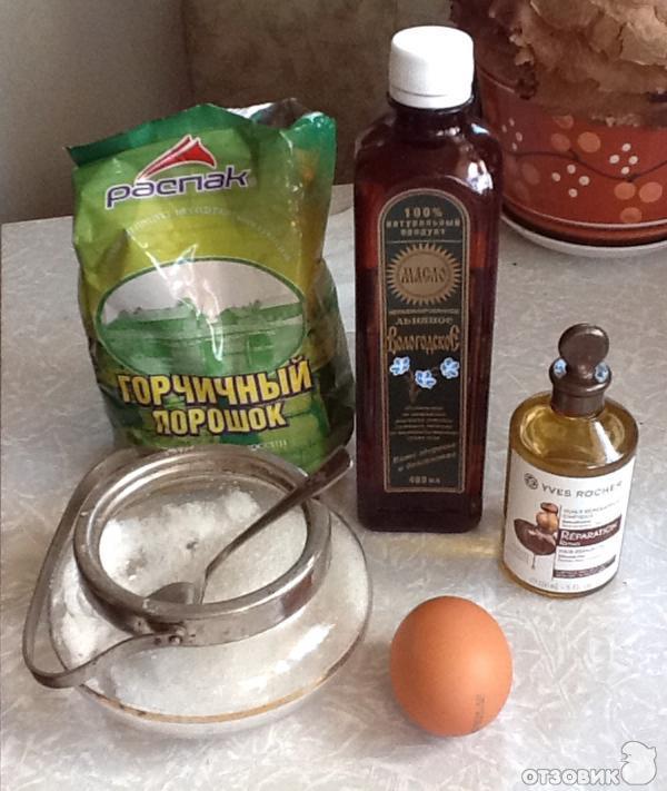 Маска для волос с желтком медом и репейным маслом для роста волос