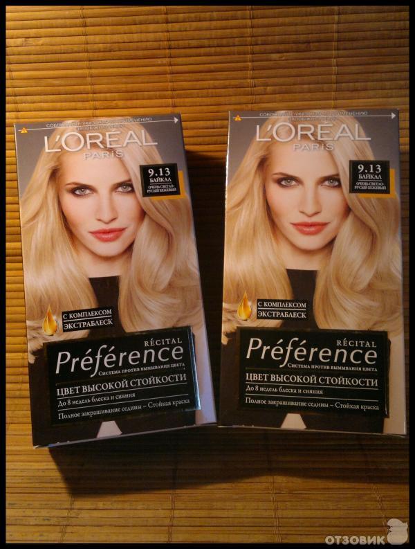 Краска для волос лореаль преферанс 9.13 отзывы фото