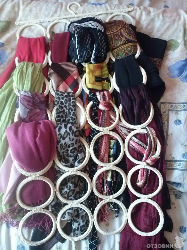 Вешалки для шарфов и платков своими руками 70