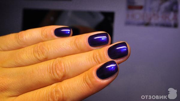 Маникюр на коротких ногтях темно синим лаком