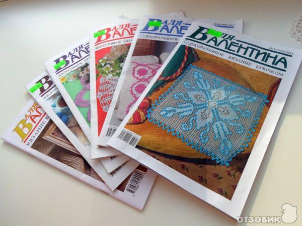 """Отзыв: Журнал по вязанию крючком и вышивке  """"Валя-Валентина """" - удобный журнал с понятными схемами для декоративного..."""
