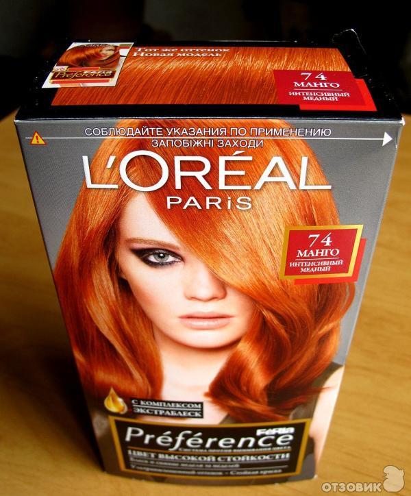 огненно рыжая краска для волос