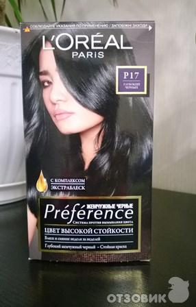 Черная краска для волос лореаль