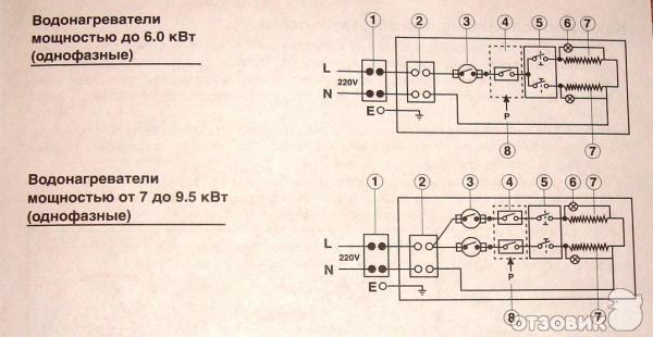 Схема водонагревателя проточного атмор