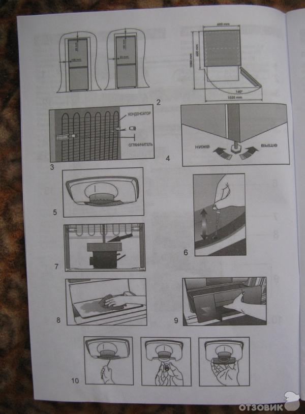 инструкция у холодильнику веко