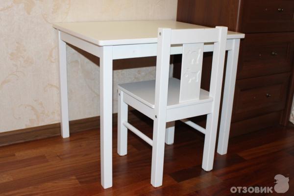 отзыв о детский стол Ikea криттер дочка очень любит этот столик
