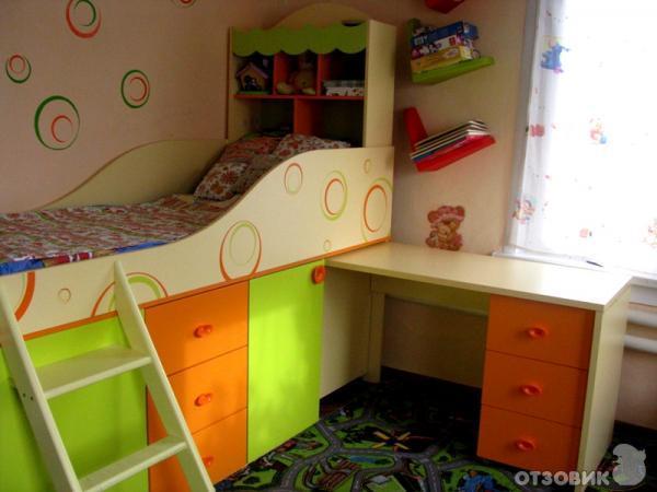 Детская кровать со столом фото