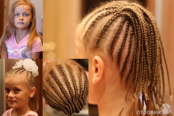 Причёски из африканских косичек фото