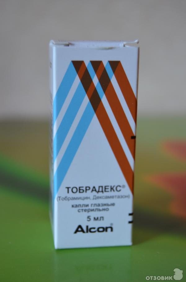 Глазные капли Тобрадекс фото