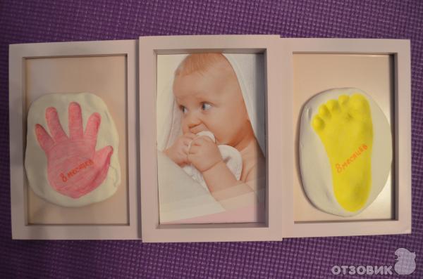 Сделать свой отпечаток руки младенца