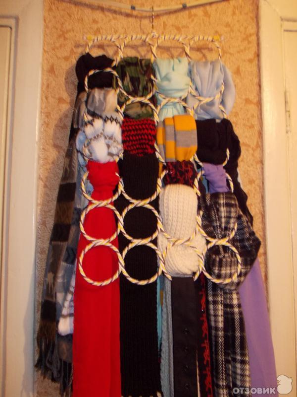 Вешалки для шарфов и платков своими руками 13