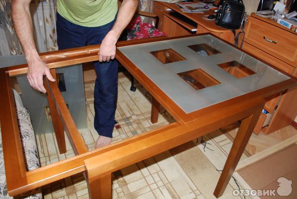 Стол стеклянный раскладной своими руками