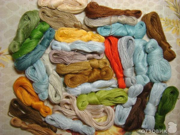 Нитки шерстяные для вышивки