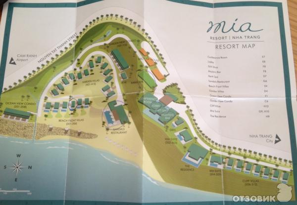 Схему курорта (а также план