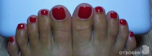 Покрытие ногтей гель-лаком на ногах