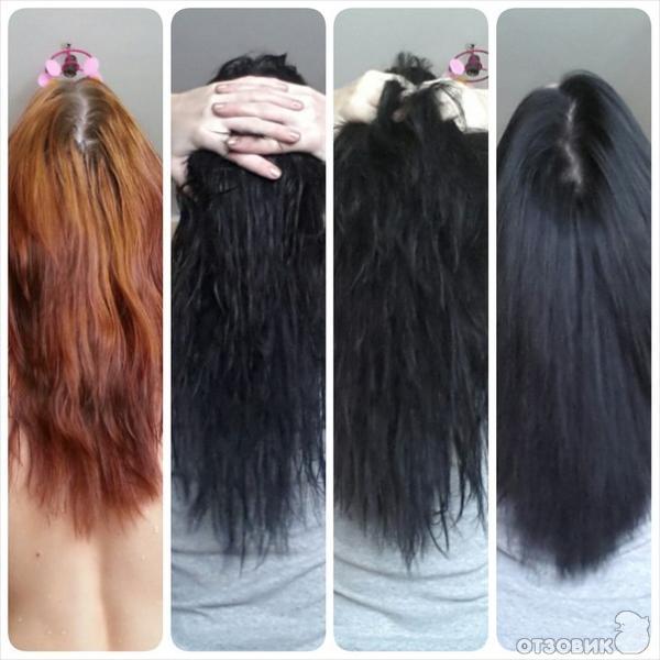 Черный цвет волос чем смыть