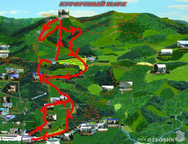 Схема город кисловодск