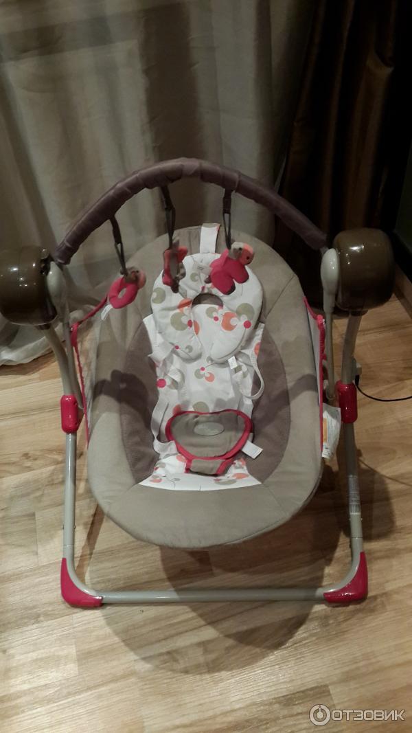 Электронная качель для новорожденного марвел