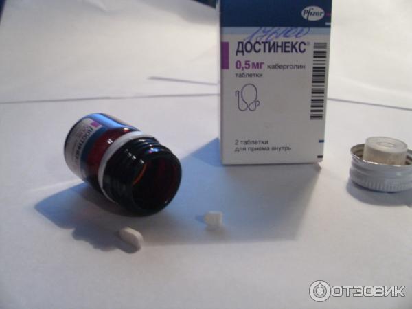Таблетки Достинекс 0,5 мг № 2