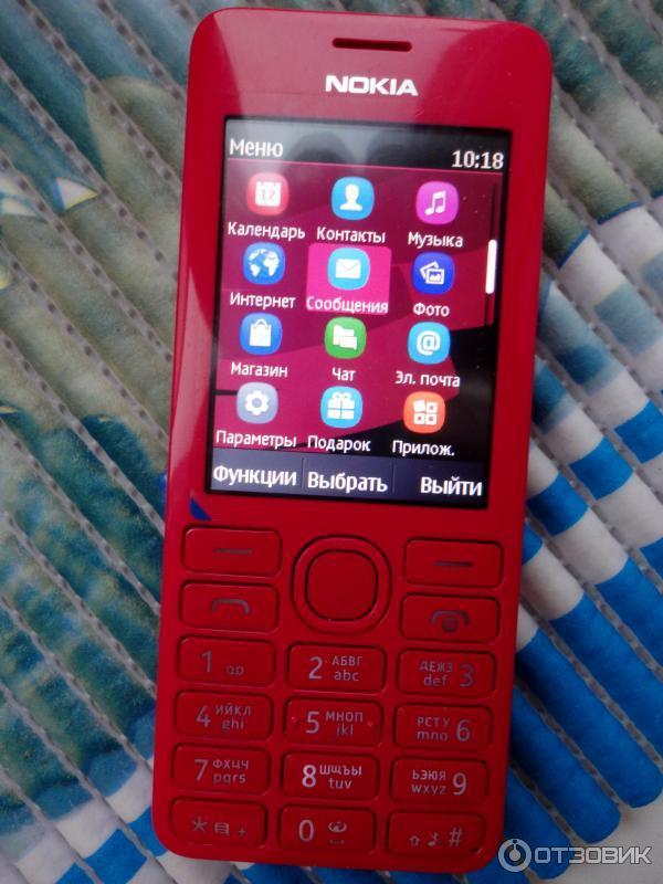 Отзыв о Сотовый телефон Nokia 206   дёшево и качественно!
