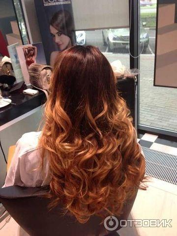 Омбре рыжих волос фото